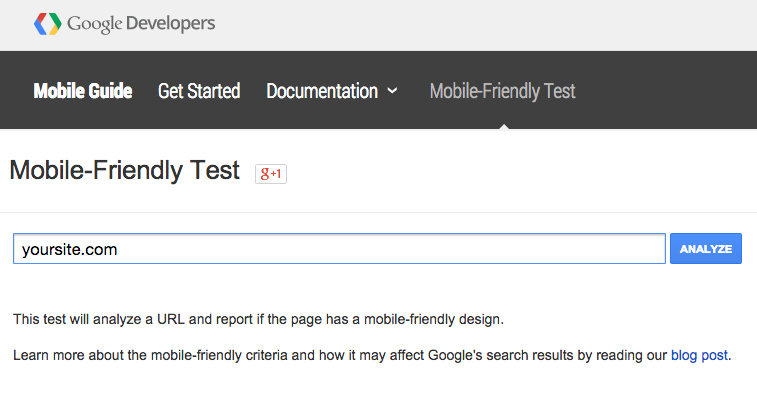 Google Responsive Mobile-Friendly Test